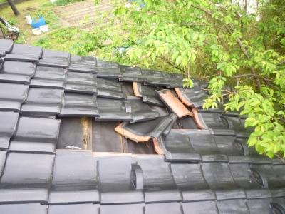 屋根瓦からの雨漏り
